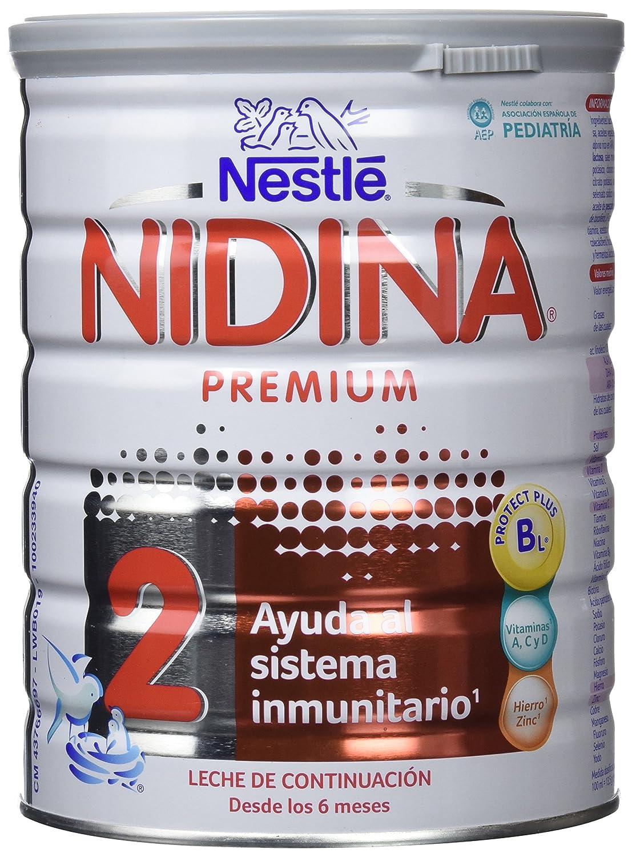 Nidina 2 Premium Leche de Continuación en Polvo A Partir de 6 Meses - 800 gr: Amazon.es: Amazon Pantry