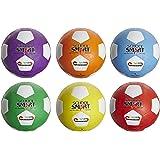 School Smart Soccer Balls - Size 4 - Set of 6 - Assorted Colors