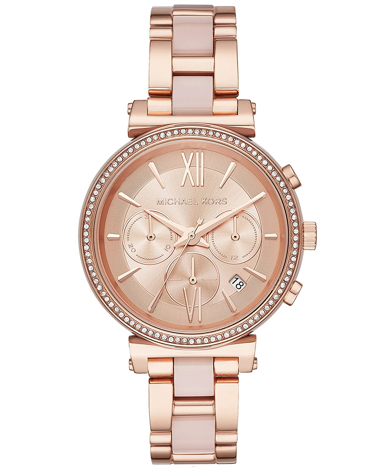 0ba66a42cafe Amazon.com  Michael Kors Women s Sofie Analog Display Analog Quartz Rose  Gold Watch MK6560  Watches