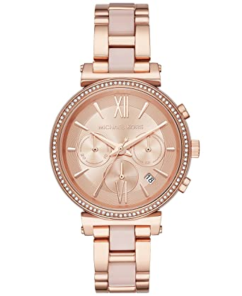 497df8cd9ff Amazon.com  Michael Kors Women s Sofie Analog Display Analog Quartz Rose  Gold Watch MK6560  Watches