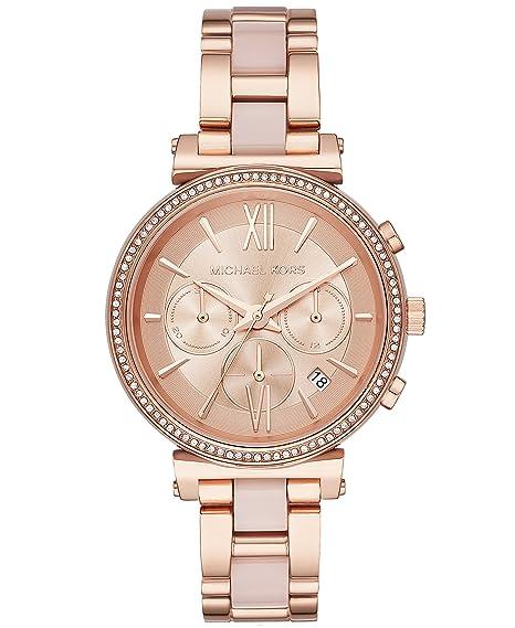 Michael Kors Reloj Analogico para Mujer de Cuarzo con Correa en Acero Inoxidable MK6560: Amazon.es: Relojes