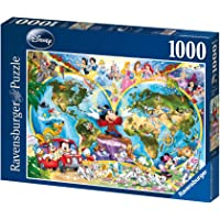Ravensburger 157853 Puzzel Disney's Wereldkaart - Legpuzzel - 1000 Stukjes