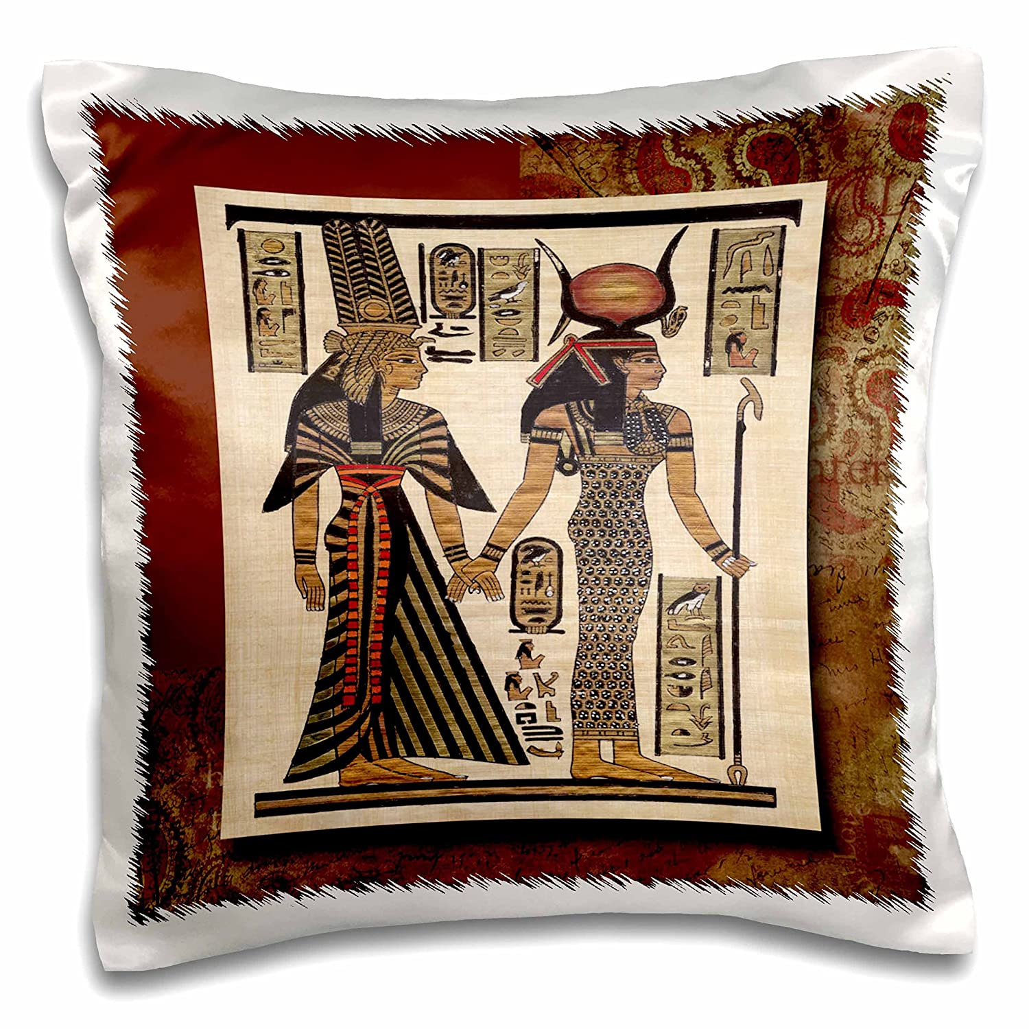 16 x 16 3D Rose pc/_99429/_1 Ancient Egyptian Papyrus Pillow Case