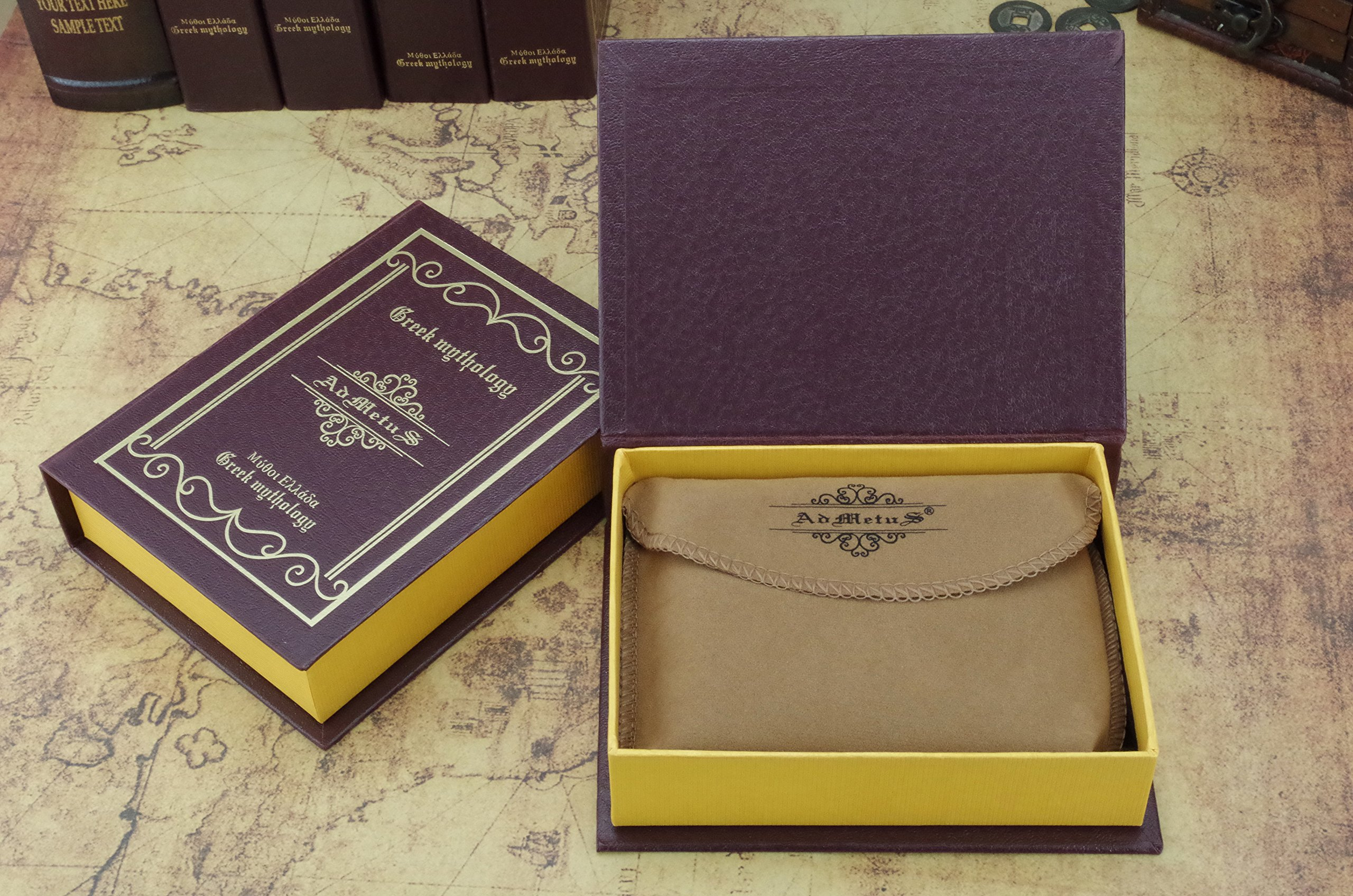 Admetus Men's Genuine Leather Short Zip-around Bifold Wallet (brown) by Admetus (Image #7)