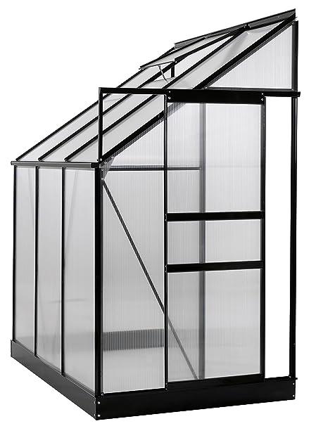 Amazon.com : Ogrow 25 sq.ft. Aluminum Lean-To Greenhouse with 6\' x 4 ...