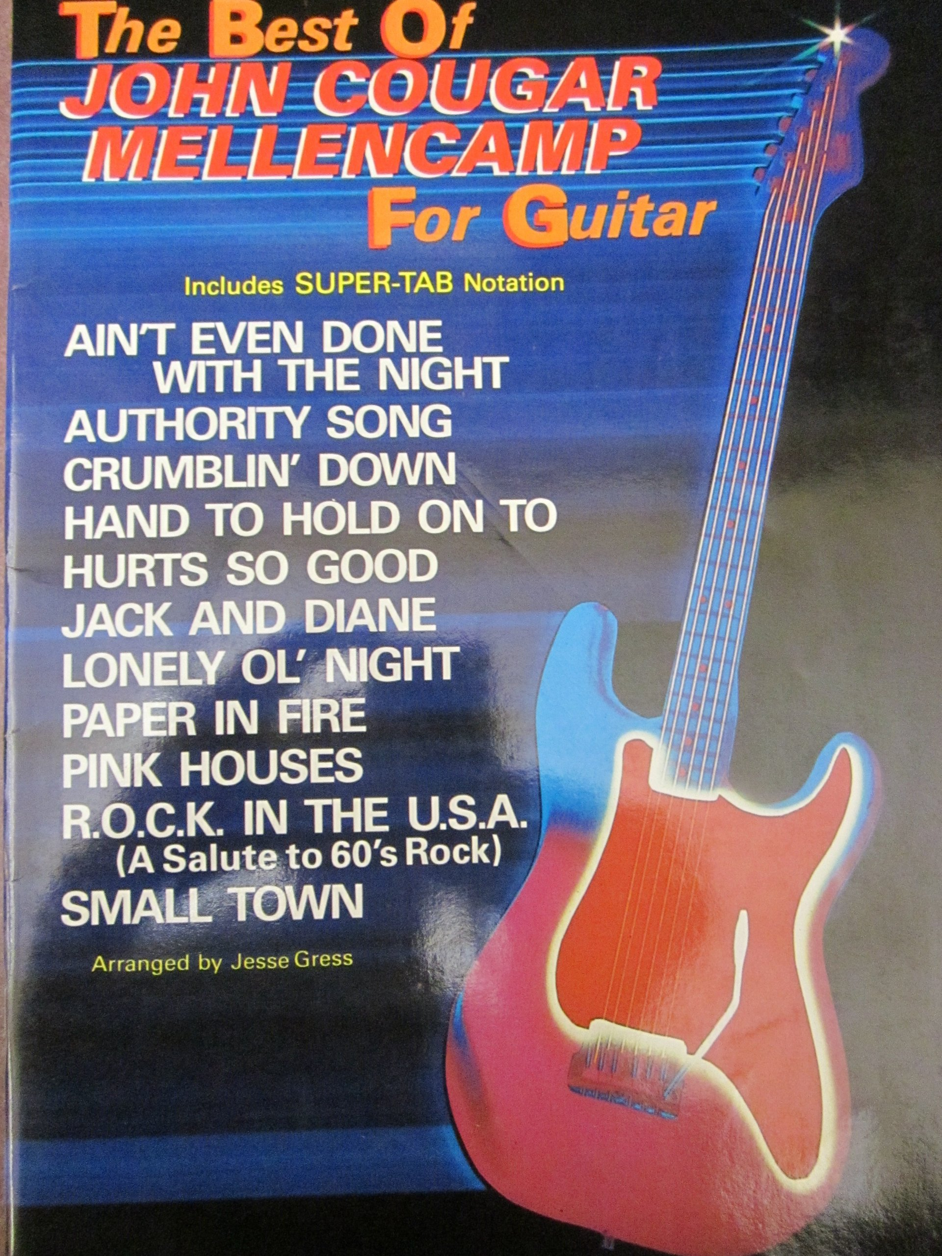 Amazon The Best Of John Cougar Mellencamp For Guitar Includes