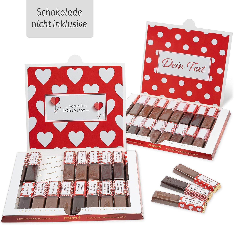 Netti Li Jae /® Aufkleber Set f/ür Merci Schokolade f/ür 2 pers/önliche Geschenke Freundschaft Das pers/önliche Dankesch/ön und kreative Geschenkidee