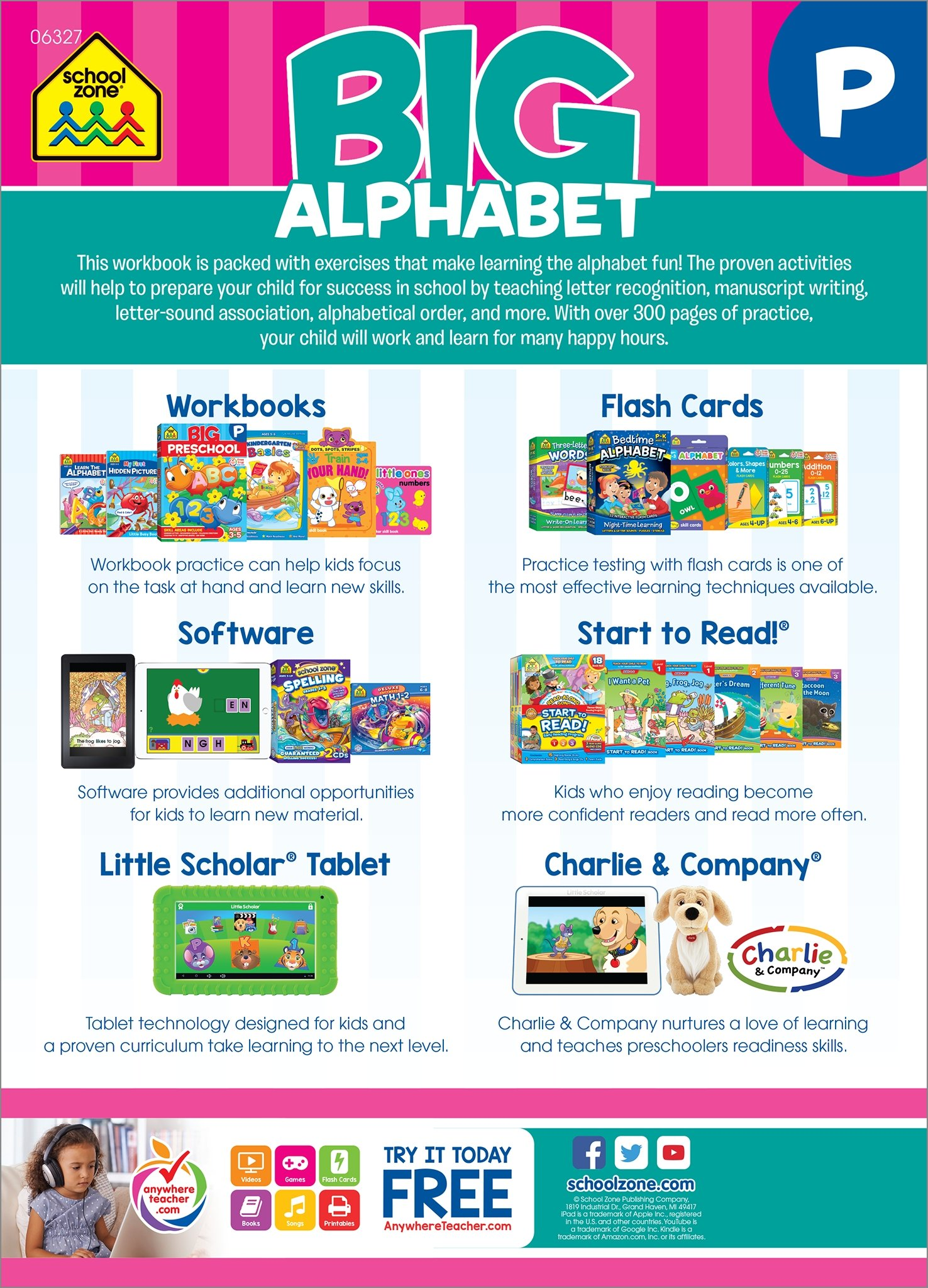 Big Alphabet Workbook (ages 3-5): Barbara Gregorich, Joan Hoffman ...