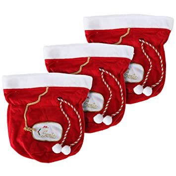 christmas gift bags santa gift bags set of 3 santa bags fabric gift - Large Christmas Gift Bags