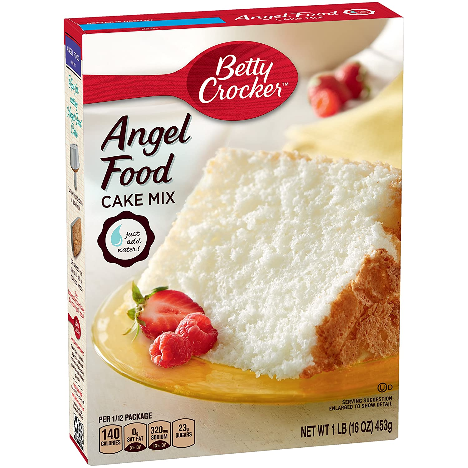 amazon com betty crocker super moist fat free cake mix angel food