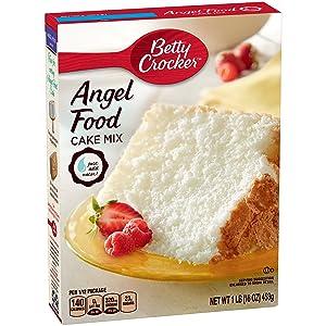 Betty Crocker Super Moist Fat Free Cake Mix Angel Food 16.0 oz Box (pack of 12)
