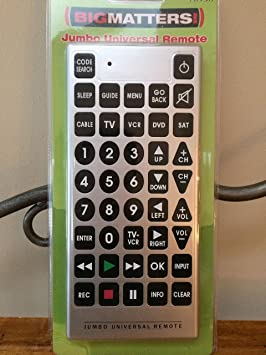 jumbo universal remote control amazon ca electronics rh amazon ca Emerson Jumbo Universal Remote Programming Emerson Jumbo Universal Remote Manual