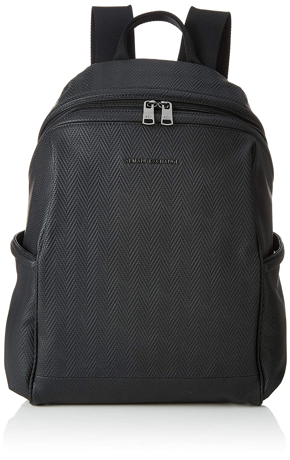 Image of Armani Exchange Men's Boxy Zippered Backpack Casual Daypacks