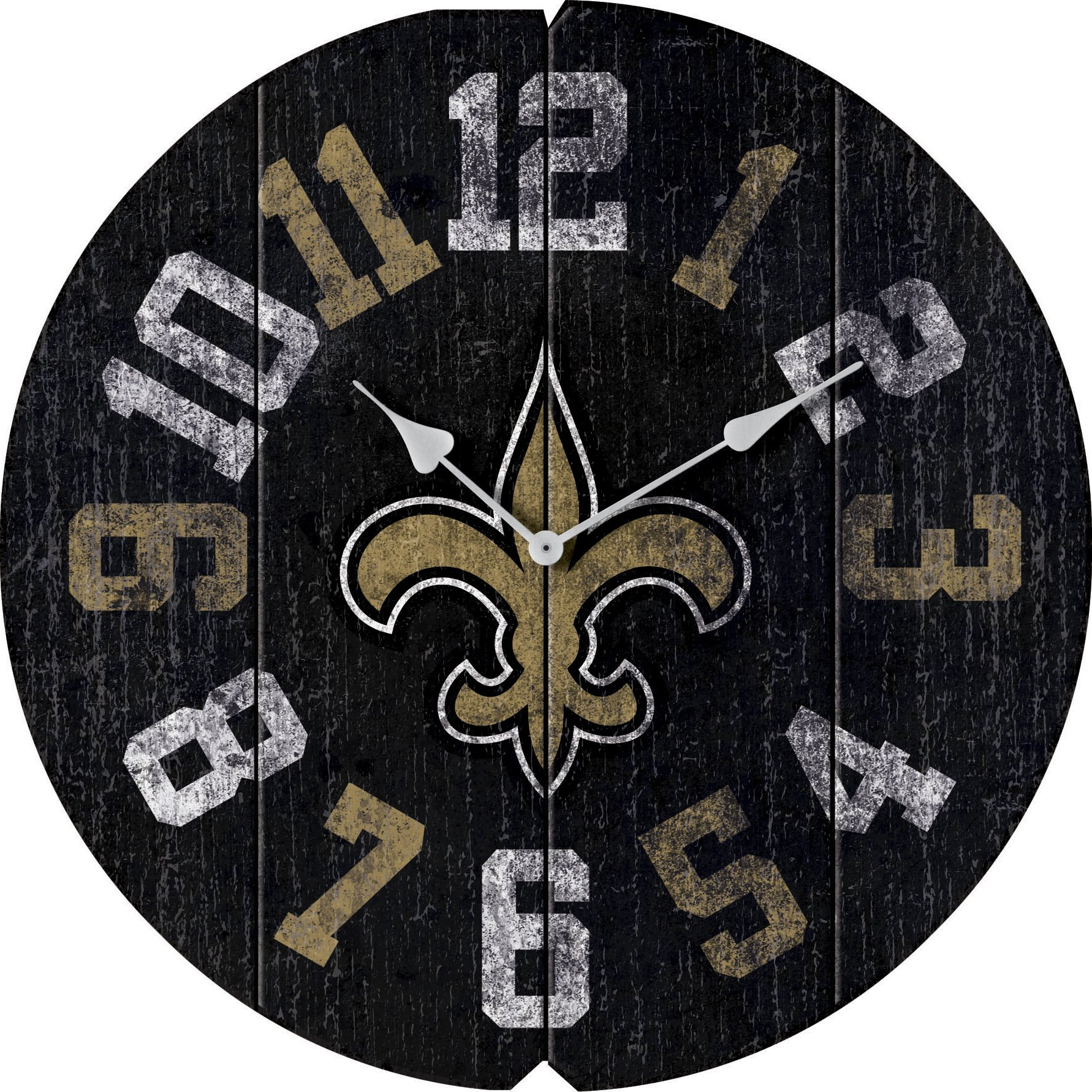 Imperial Officially Licensed NFL Merchandise: Vintage Round Clock, New Orleans Saints by Imperial