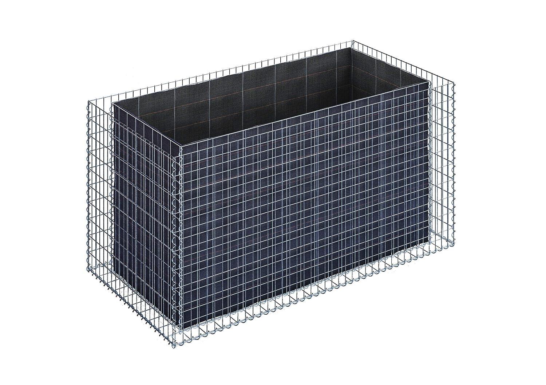 Bancal de piedra, cesta de gavión cuadrada, de malla de 5 x 10 cm ...