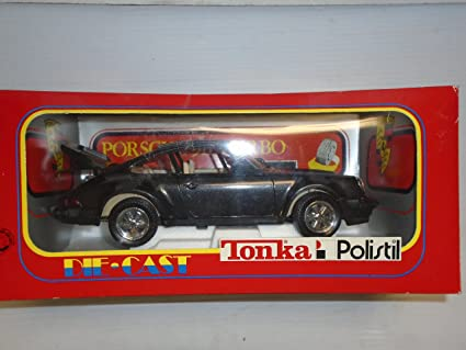 Tonka Polistil 1:16 scale Porsche 911 Turbo Black die cast model