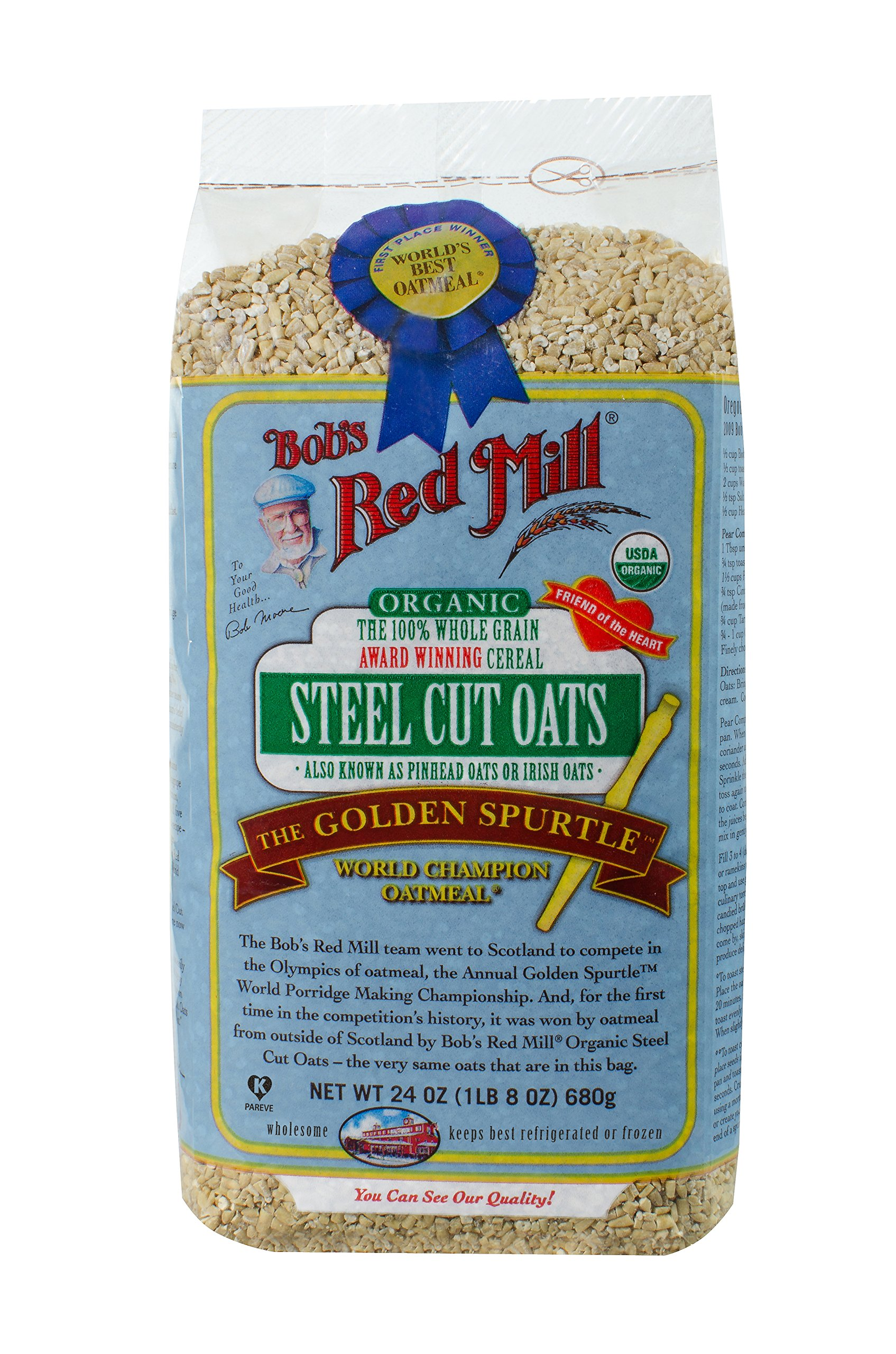 Bob's Red Mill Organic Steel Cut Oats, 24-ounce (Pack of 4)