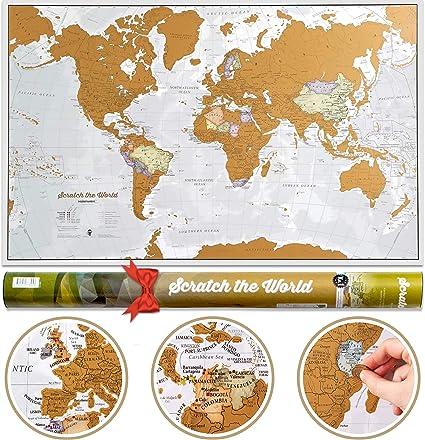 Cartina Mondo Gratta.Mappa Del Mondo Da Grattare E Idee Regalo Extra Large 84 X 59 Cm Maps International