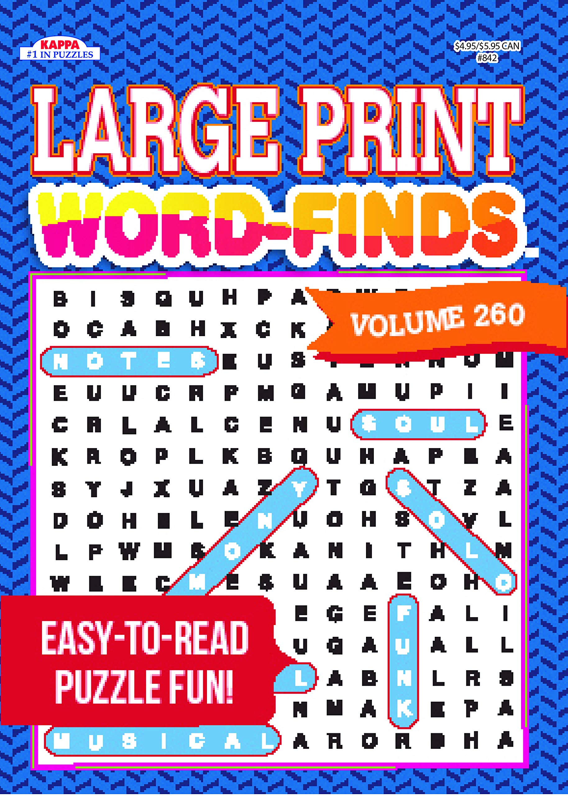 919ad904e8 Large Print Word-Finds Puzzle Book-Word Search Volume 260: Kappa ...