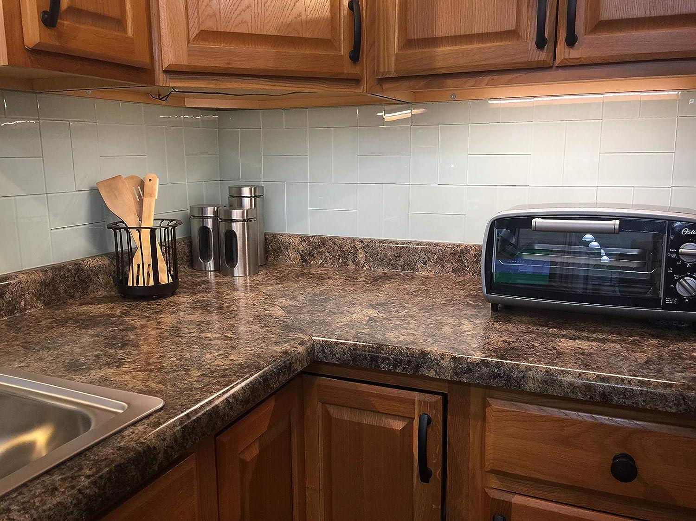 """Art1116d Backsplash Glasfliesen für Küche oder Badezimmer, 1116,116 x 116,116 cm, 116  Stück 116"""" x 1116"""" weiß"""