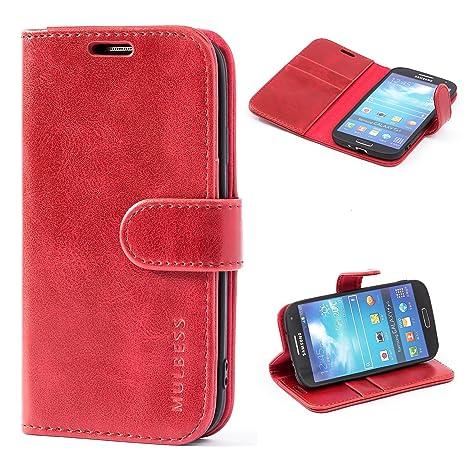 Funda Samsung Galaxy S4, MULBESS Funda Piel PU, Soporte Plegable, Ranuras para Tarjetas y Billetes, Estilo Libro, Acceso a Botones, Cierre Magnético ...