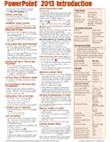 Microsoft PowerPoint 2013 Introduction Quick Reference Guide (Cheat Sheet of Instructions, Tips & Shortcuts - Laminated Card)