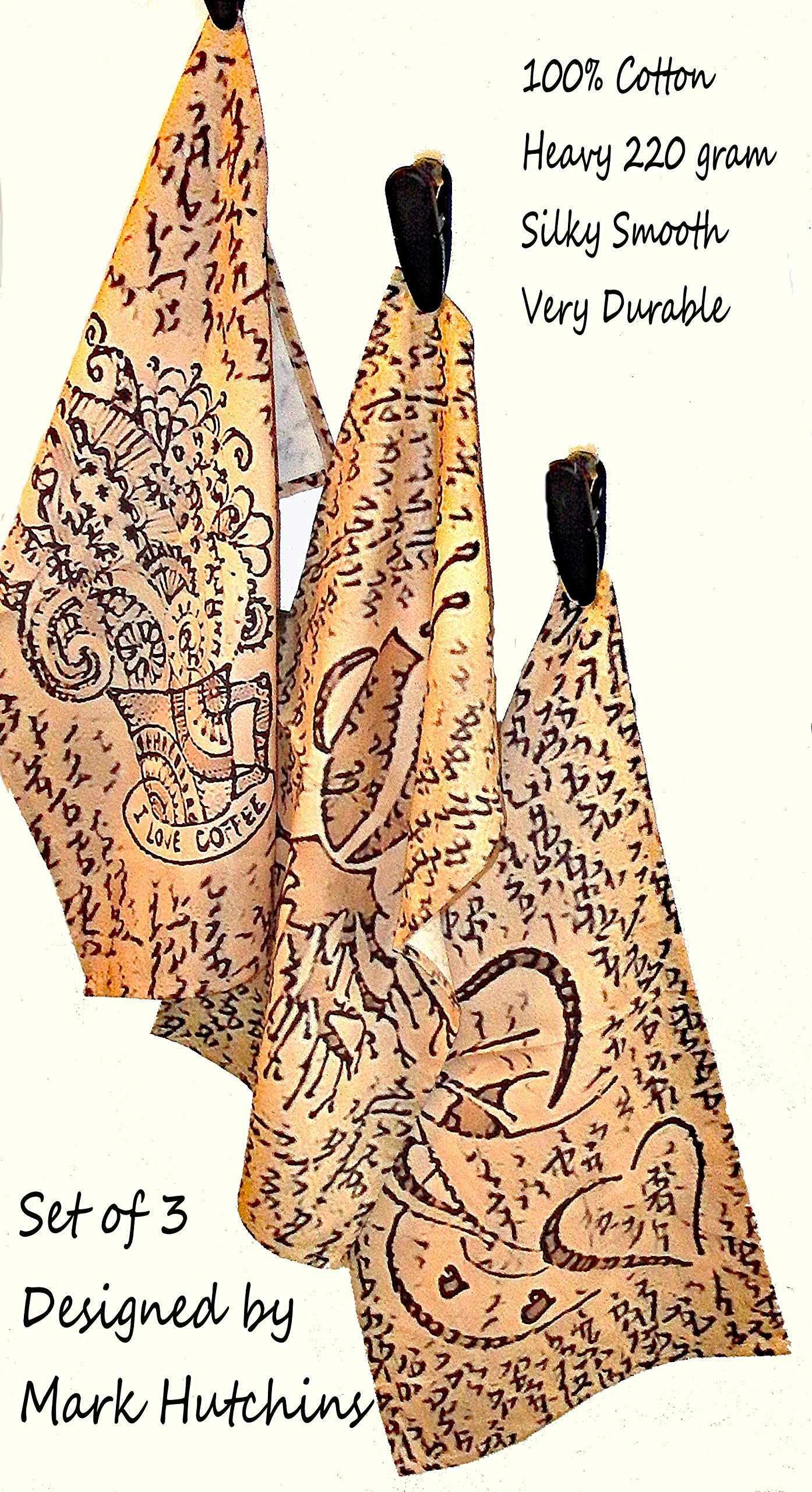 Mark Hutchins Artist Design Tea Towel