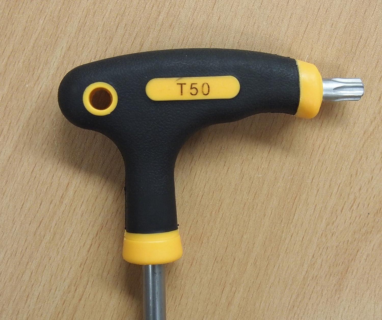 und Innensechskantschl/üssel-Schraubendreher Driver Tool T10 ZOOMY T-Griff-Griff Torx 15//20//25//30//40 T10