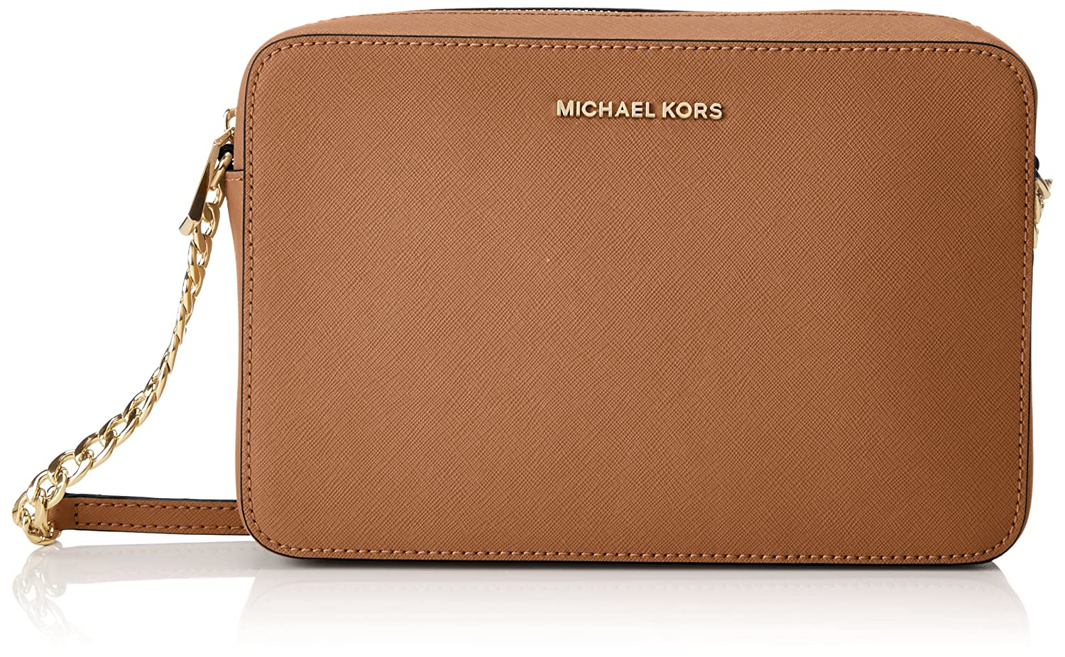 76555059e8de Michael Kors Women's Jet Set Crossbody Leather Bag - Acorn: Handbags:  Amazon.com