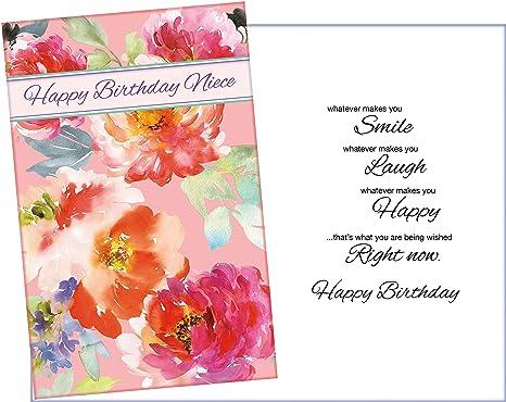 Amazon.com: Tarjeta de felicitación de cumpleaños para Niece ...