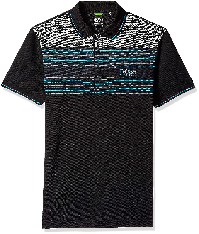 Hugo Boss Men's Paddy Pro 1 Stripe Polo BOSS Green 50379325