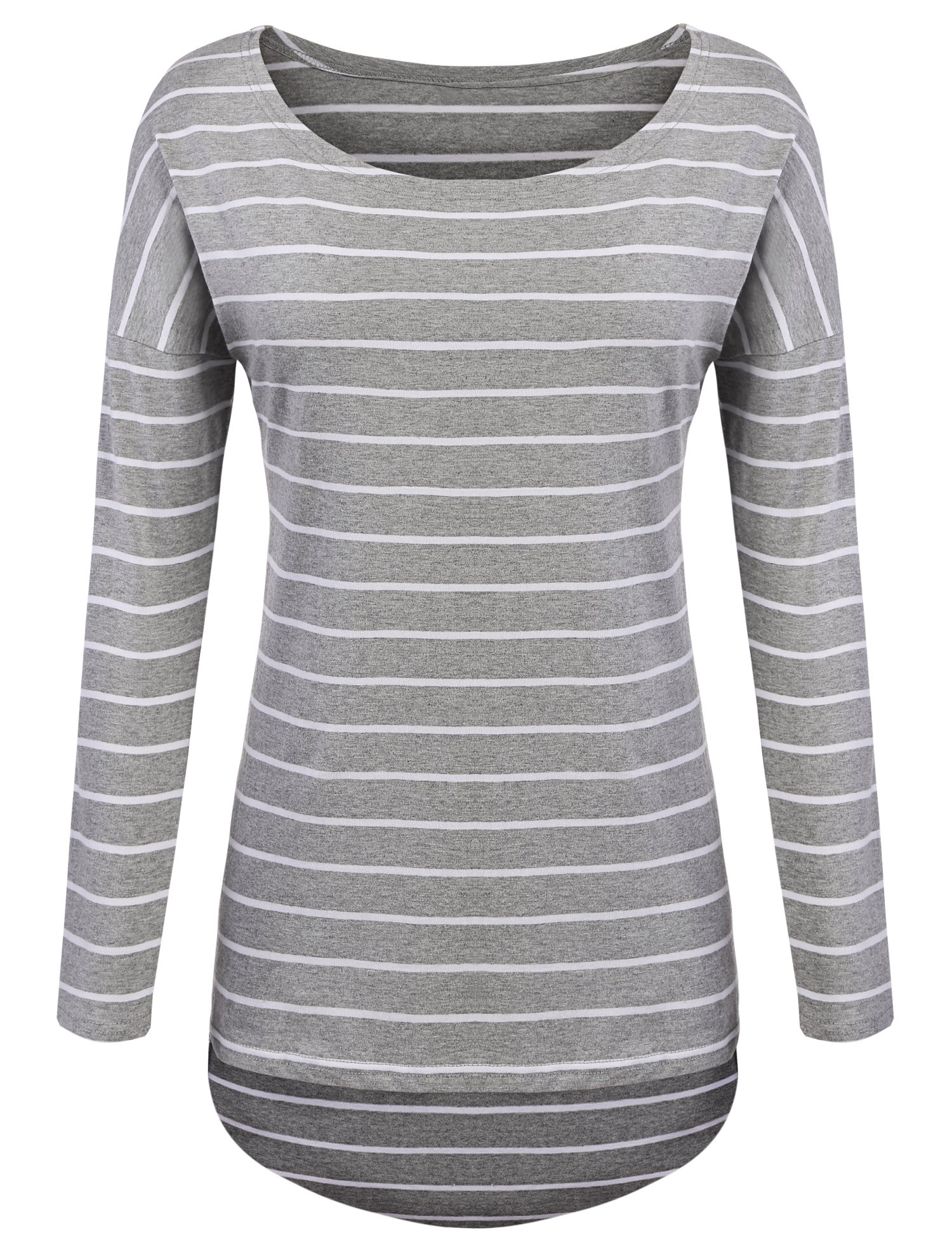 56cd76113f4291 Galleon - POGTMM Grey Striped Long Sleeve Shirt (M
