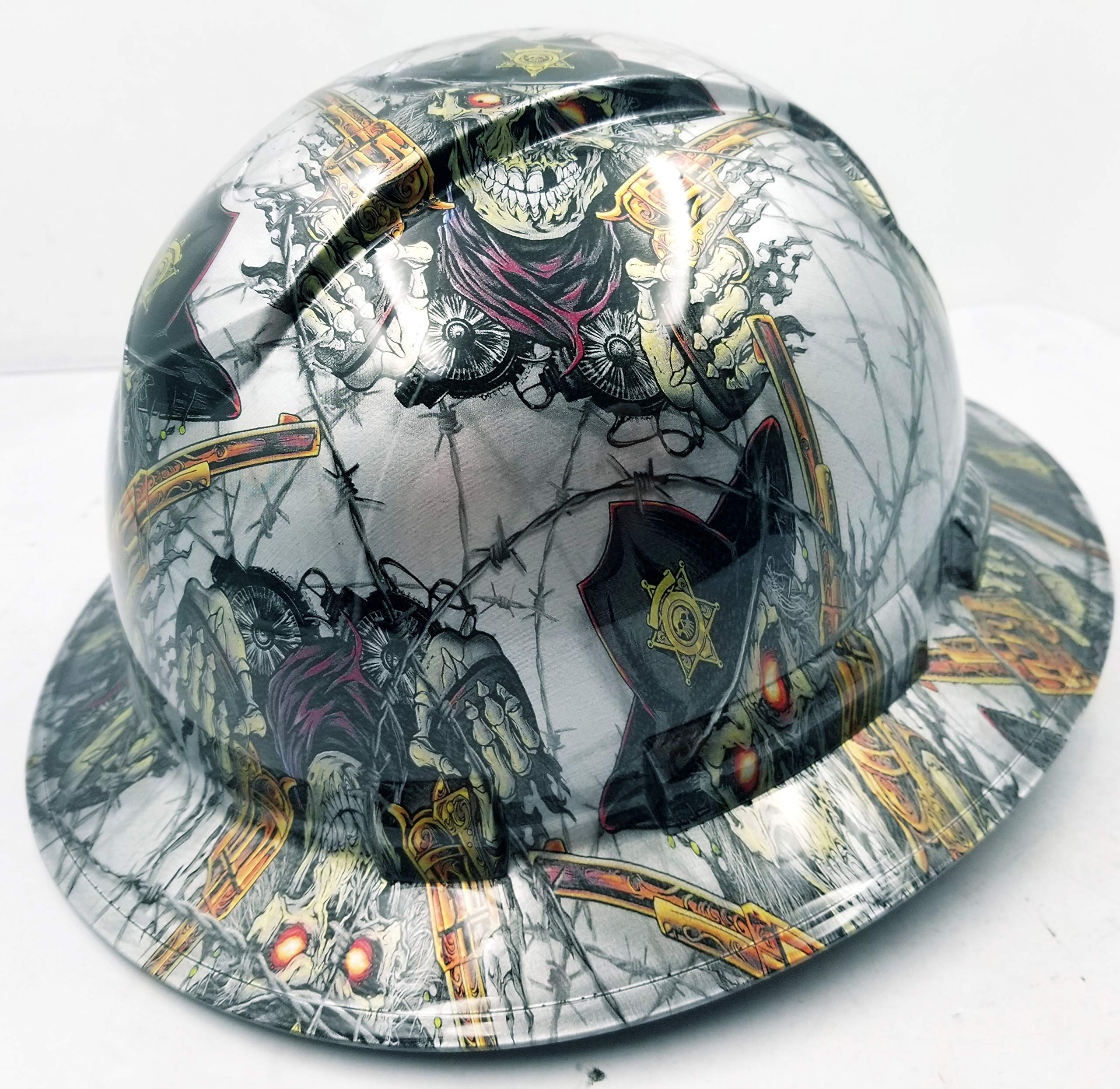 Wet Works Imaging Customized Pyramex Full Brim Dirty Dirty Harry Hard HAT with Ratcheting Suspension Custom LIDS Crazy Sick Construction PPE by Wet Works Imaging (Image #2)