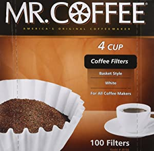 """Rockline Industries Inc JR100 """"4 Cup"""" 100-Count Coffee Filter For Mr. Coffee JR-4"""