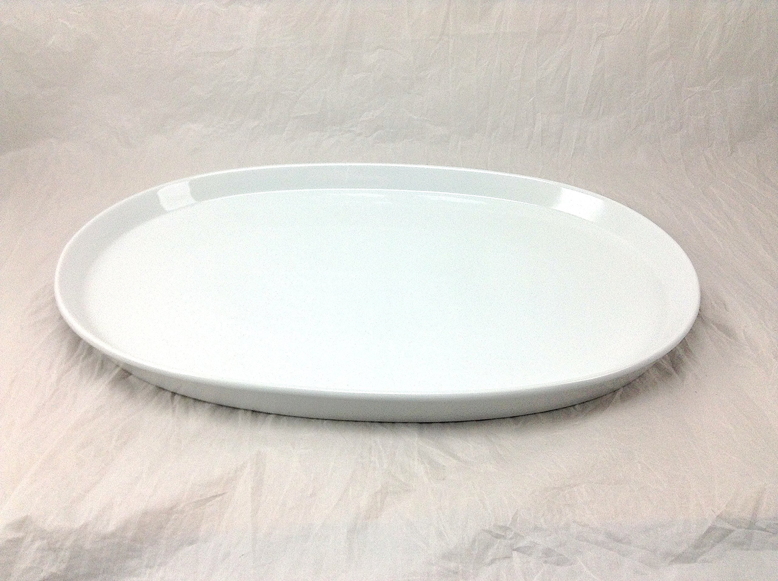 BIA Cordon Bleu 906062 21 by 14-Inch Oval White Porcelain Serving Platter, Large