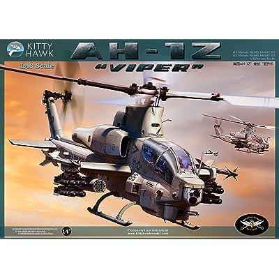 Kitty Hawk KH80125 1:48 AH-1Z Viper Helicopter [MODEL BUILDING KIT]: Toys & Games