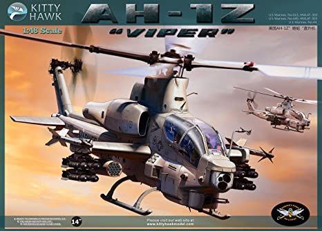 Amazon kitty hawk kh80125 148 ah 1z viper helicopter model kitty hawk kh80125 148 ah 1z viper helicopter model building kit publicscrutiny Images