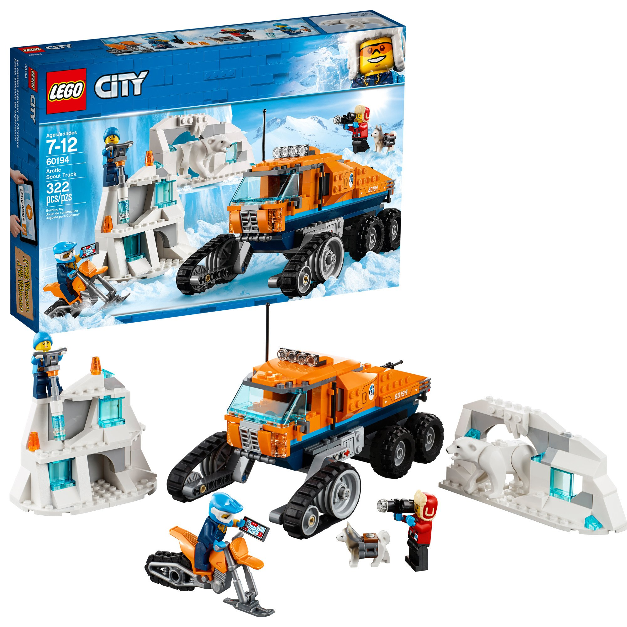 LEGO City Arctic Scout Truck 60194 Building Kit (322 Pieces) by LEGO