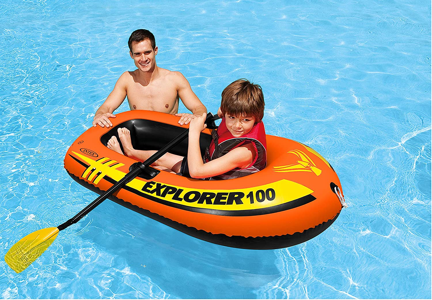 Amazon.com: Intex Explorer 100 - Barco hinchable para 1 ...