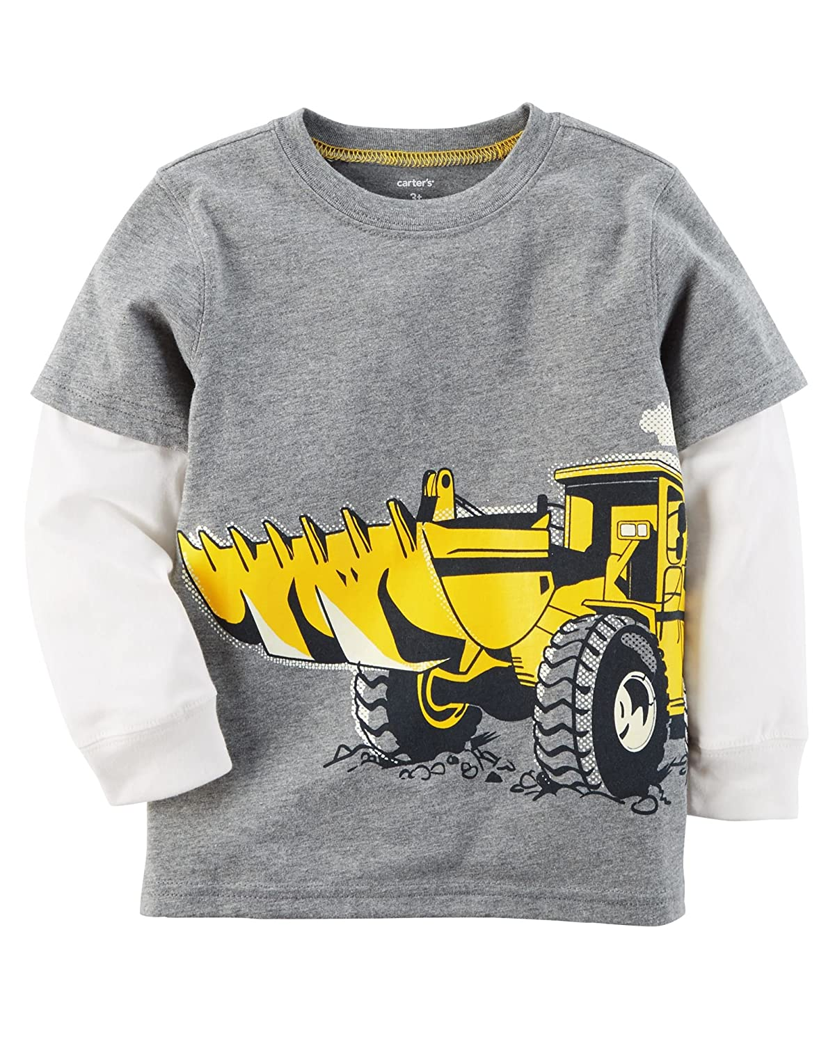 Carter's Boys' 12M-8 Long Sleeve Layered-Look Tee