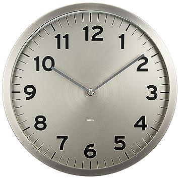 0896011130e Relógio Parede Classic Etna Prata 30cm  Amazon.com.br  Casa