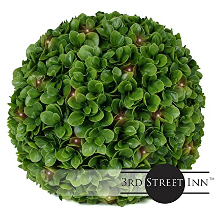 3rd street inn jasper lighted topiary ball 15 artificial pre lit christmas topiary - Christmas Topiary