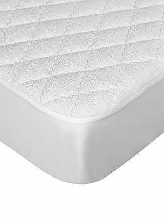 Deide Protección Acolchado Rizo Impermeable Gemelo Blanco Cama 67: Amazon.es: Hogar