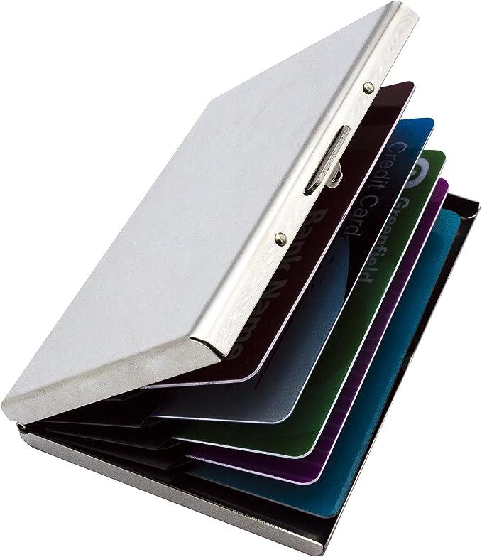 Amazon.com: MOSIYEEF - Tarjetero de metal para tarjetas de ...