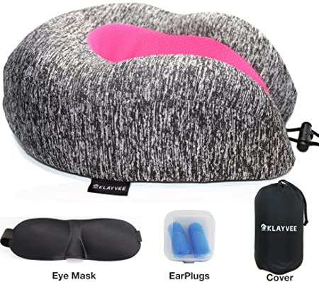 Almohada de viaje gris rosa - Cojín cervical para mujeres ...