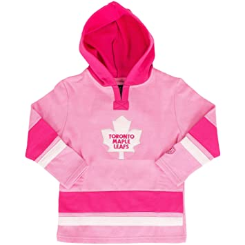 the best attitude ae3e4 45877 Toronto Maple Leafs Toddler Girls Pink Shannon Pullover Fleece Hoodie