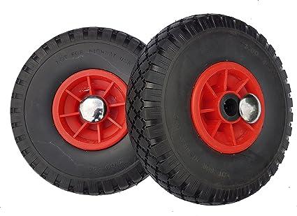 2ruedas Frosal de poliuretano para carros + Fijación de ruedas de carretilla