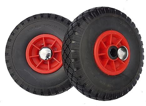 2 ruedas Frosal de poliuretano para carros + Fijación de ruedas de carretilla rueda de repuesto, goma resistente a pinchazos.: Amazon.es: Bricolaje y ...