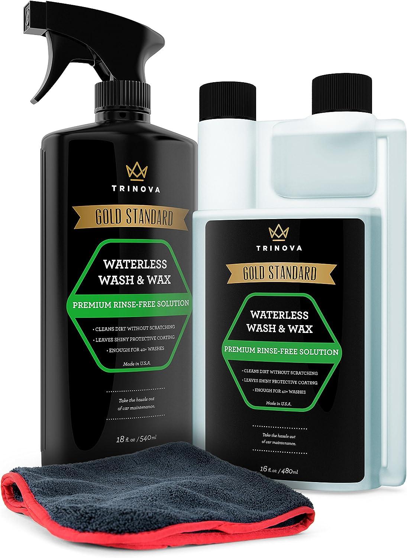 TriNova Waterless Car Wash and Wax Kit
