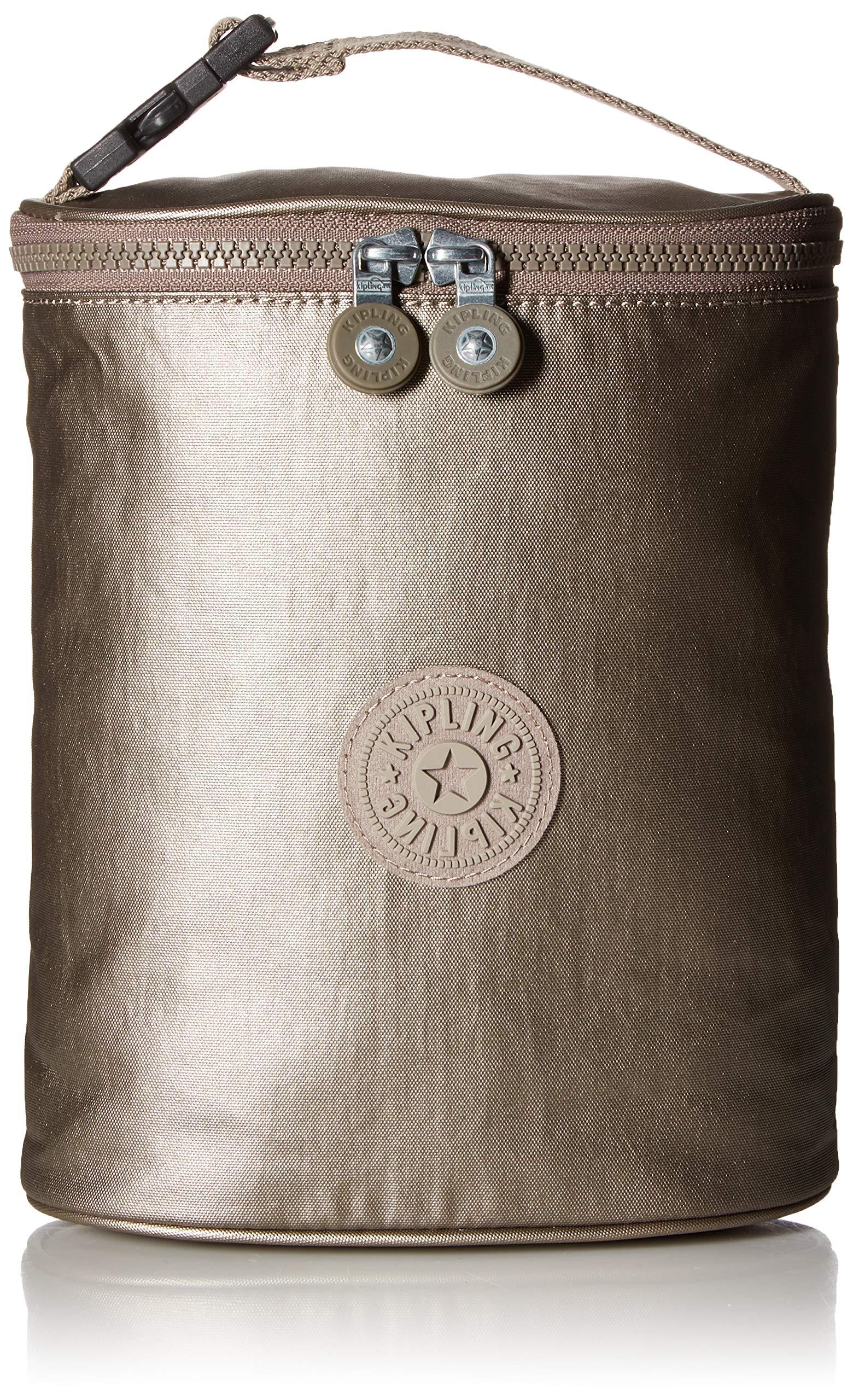 Kipling Insulated Baby Bottle Holder, Clip on Strap, Metallic Pewter by Kipling